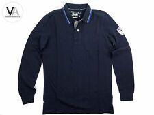 SLAM Herren Poloshirt Scriodan Segel Sport Baumwolle dunkelblau/navy L