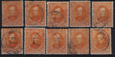 Costa Rica Scott 19 Lot of 10 Stamps USED CV$120