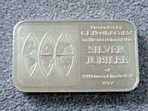 Rare 500 gram 999 silver minted bullion bar 1977 Silver Jubilee Queen Elizabeth