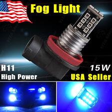 1x H11 15W High Power BLUE LED Bulb Car Fog Driving DRL Daytime Running Light