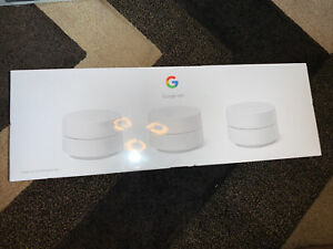NEW - Google Wifi - Whole Home Dual-Band Mesh Wi-Fi System - 3 Pack