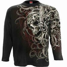 Spiral Direct Totenkopf Schulter Wrap Überall Langarm T-Shirt/ Tribal/ Rock/ Top