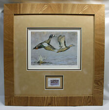 2009 Texas Waterfowl Duck Conservation Stamp Print Framed Mint Blue Winged Teal