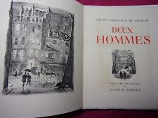 DEUX HOMMES  Georges Duhamel  29 gravures sur cuivre de Gaston Barret Ex num
