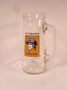 Pittsburgh Pirates 1970s Logo Smiling Bucko Glass Beer Mug