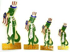 4 Patriotic Florida Alligator 1976, 77, 78 Dist 35-I Lions Club Trading Pins