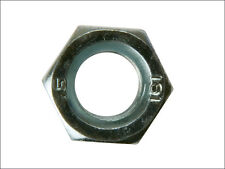 """1/4"""" WHITWORTH (BSW) BZP PLATED STEEL FULL NUT - Pack of 10 Nuts"""