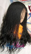 """Fully Braided LACE Front WIG micro twist Color black Alina baby hair 18' to 22"""""""