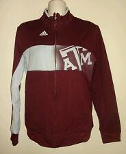 Adidas Texas A&M Aggies Full Zip ClimaWarm Jacket Maroon Light Gray Men's SMALL
