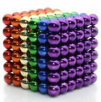 216 Coloured Mag Balls - Larger 5mm Size - Toy Bead Stress Relief Sensory Cube