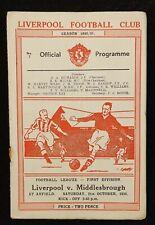 1950/51 Liverpool v Middlesbrough
