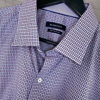 Bugatchi Uomo Super Fine Cotton Dress Shirt Cotton Men's Size 18/46