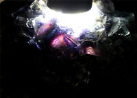 393.9g NATURAL Purple Green FLUORITE grow with Pyrite Crystal Mineral Specimen
