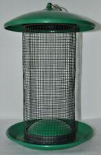 New listing Green Metal Screen Tube Bird Feeder