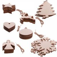 Wooden Christmas Tree Snowflake Elk Snowman Pendant Christmas Crafts Decoration