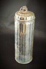 Ancienne Bouillote Vintage en Aluminium cannelé DECO RETRO Croix de Lorraine