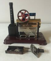 MAMOD SP2 LIVE STEAM STATIONARY ENGINE WITH BURNER ~ IN NEED OF REPAIR