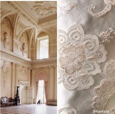 SALE! Designer Brocade Satin Fabric- Antique Pink On Ivory - Upholstery