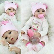 22'' Bambole Reborn Baby Dolls Morbido Vinile Realistico Silicone Bambino Xmas A