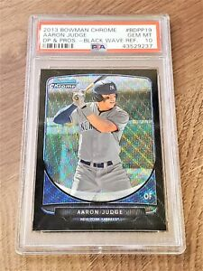 Aaron Judge 2013 Bowman Chrome Black Wave Refractor #BDPP19 RC PSA 10 Gem Mint