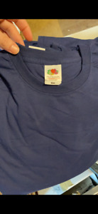 LOTTO STOCK 10 MAGLIE MAGLIETTE FRUIT OF THE LOOM UOMO TG M T SHIRT BLU WORK