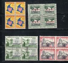COLOMBIA  STAMPS CANCELED USED BLOCKS    LOT 22264