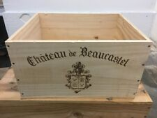 Wine Box Case Crate 6 Bottle French Chateau Beaucastel 2012