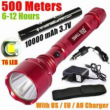 2000 Lumen CREE XML T6 LED 18650 Rechargable Tactical Flashlight Torch+2 Charger