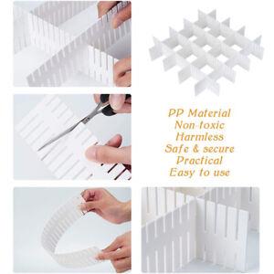 4 Stück Schubladentrenner verstellbare Gitter Fachteiler Zuschneidbar OrganizerC