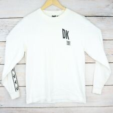 """DKNY x Opening Ceremony """"1991"""" Long Sleeve Graphic T-Shirt, Men's Small White"""