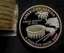 2009-S San Francisco Mint Territorial Quater American Samoa Proof 90% Silver