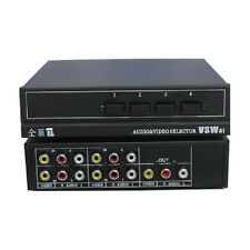 New Audio and video switcher Av Switcher 4 Input 1 Output VSW41