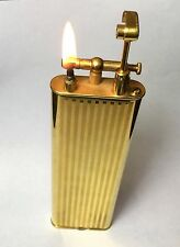 Engine Turned Gold Plated Dunhill Club Lighter, Great Condition