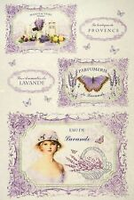 Rice Paper for Decoupage Decopatch Scrapbook Craft Sheet Provence Lavender 2