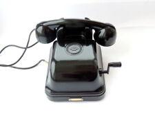 1951 Vintage Heavy Soviet Desk Phone Telephone Bakelite Rotary Dial Commutator