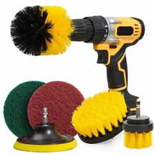 Drill Brush Scrub Power Attachment Cleaning Scrubber Tile Scrubbing 6 Pcs Set