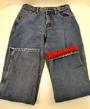 Berne Ladies Flannel Lined Straight Leg Jeans Womens Size 10 Tall 30x32