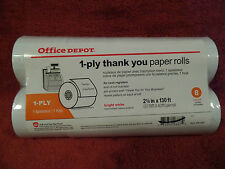 Office Depot Brand Preprinted Thank You Paper Rolls - White  (11 Packs Of 8)