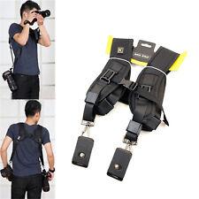 Dual-Shoulder Camera Quick Release Belt Sling Neck Strap for Nikon Sony DSLR
