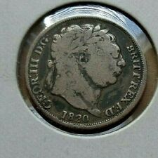1820 Great Britain UK GB 6p six pence silver coin KM# 665