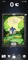 Topps Star Wars Card Trader Digital Gray CTI Illustrated R2-D2