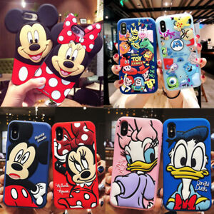 Cartoon Disney couple Shockproof Case Cover for iPhone 12 11 Pro XS Max XR 7 8+