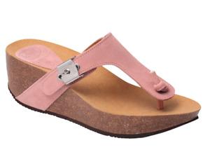 Scholl Edna 2.0 Suede Sandals Sliders Slip On Mules in Pink UK4 EU37