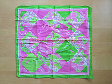 Lilly Pulitzer pink green Ford courage car flower cotton scarf bandana