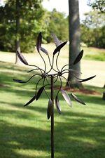 Kinetic Wind Spinner Vintage Sculpture Metal Art Windmill Garden Decor Outdoor