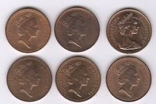 More details for 1984-1989 elizabeth ii one penny coin date run | british coins | pennies2pounds