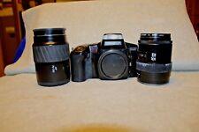 Minolta Maxxum 5000i 35mm SLR Film Camera WITH 70-210AF/35-105 WA LENS