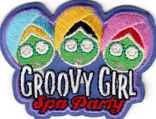 """""""GROOVY GIRL!"""" -  IRON ON EMBROIDERED PATCH - GIRLY - GIRL POWER - GIRLS"""