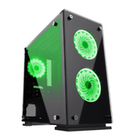 GameMax Micro ATX Tower H605-TA Gaming PC Desktop Computer Case W/ RGB LED Fans