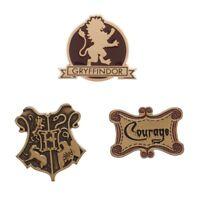 House Gryffindor - Harry Potter Set of 3 Lapel Pins - Hogwarts Crest Courage